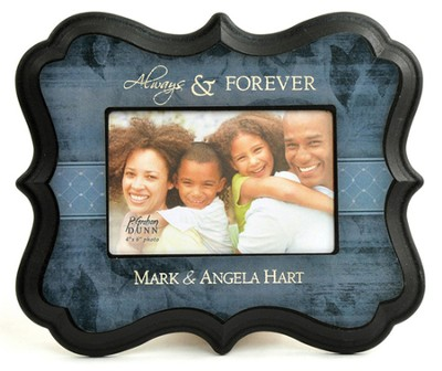 Personalized, Always and Forever, Photo Frame, Blue   -
