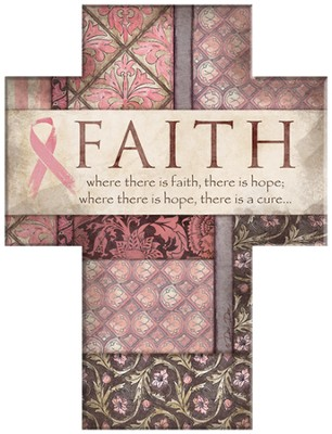 Where There is Faith Cross, Pink Ribbon  -     By: Dee Dee