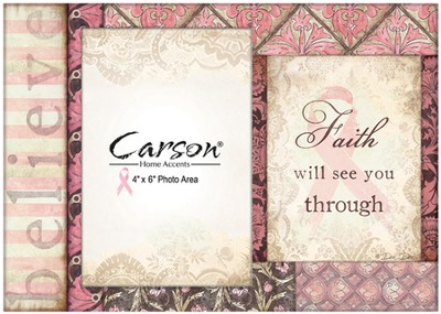 Faith Will See You Through Photo Frame, Pink Ribbon  -     By: Dee Dee