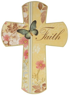 Faith Butterfly Cross  -     By: Terri Conrad