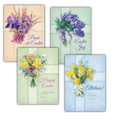 Flower-Adorned Crosses - Easter Cards  -