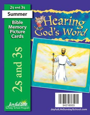 Hearing God's Word (ages 2 & 3) Bible Memory Picture Cards  -