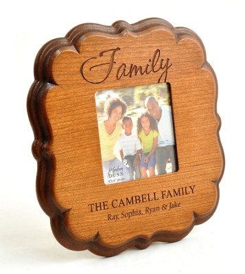 Personalized, Family 4x4 Photo Frame, Cherry   -