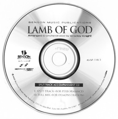 Lamb of God (Split Track Accompaniment CD)   -