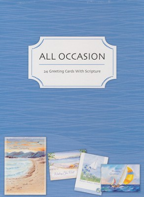 Shoreline Greetings All Occasion Cards, Box of 24   -