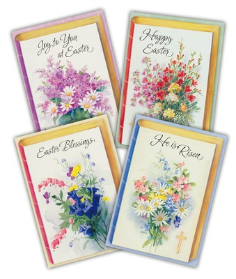 Easter Cards, Bible With Floral    -