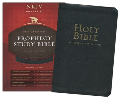 NKJV Prophecy Study Bible, Giant Print, Genuine Leather, Black   -     By: Doug Batchelor