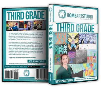 Home Art Studio on DVD & DVD-ROM: 3rd Grade   -     By: Lindsey Volin