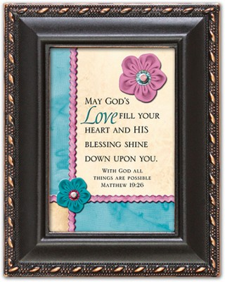 May God's Love Fill Your Heart Magnetic Frame  -