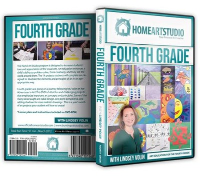 Home Art Studio on DVD & DVD-ROM: 4th Grade   -     By: Lindsey Volin