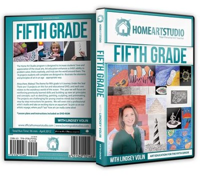 Home Art Studio on DVD & DVD-ROM: 5th Grade   -     By: Lindsey Volin