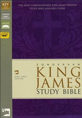 KJV Zondervan Study Bible, Bonded leather, Black   -
