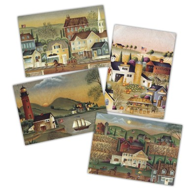 Americana Blank Cards, Box of 12  -     By: Betty Caithness