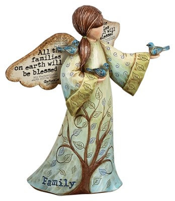 All the Families on the Earth, Blessed Angel Figurine  -     By: Robin Davis