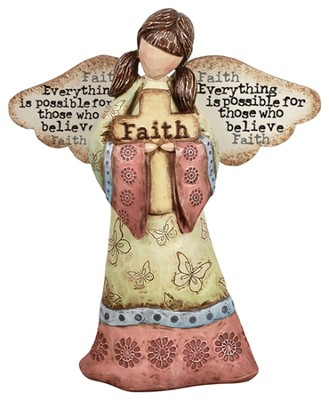Everything is Possible, Faith Angel Figurine  -     By: Robin Davis
