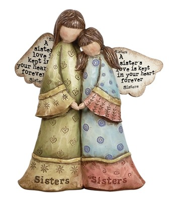 A Sister's Love Angel Figurine  -     By: Robin Davis