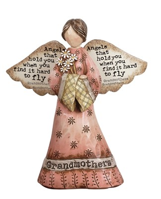 Grandmother, Angels Figurine  -     By: Robin Davis
