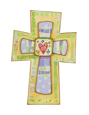 Hearts and Crosses Wall Cross 10  -     By: Lori Siebert