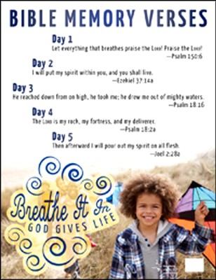 Breathe It In: God Gives Life VBS, Bible Memory Poster  -