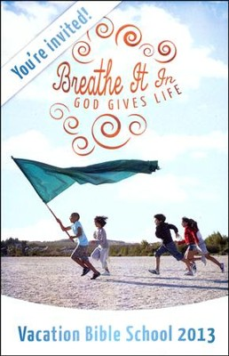 Breathe It In: God Gives Life VBS, Invitation Postcards (package of 20)  -