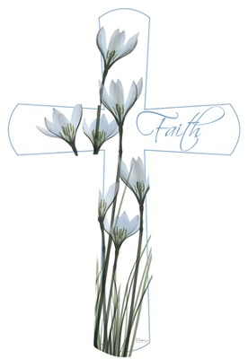 X-Ray Flower Faith Cross  -