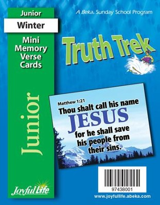 Truth Trek Junior (Grades 5-6) Mini Memory Verse Cards   -