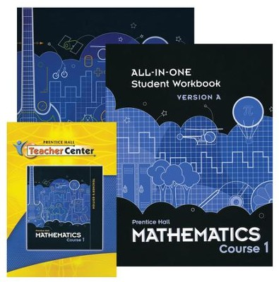 Prentice Hall Middle School Math 6th Grade Course 1 Homeschool Bundle  -