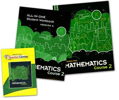 Prentice Hall Middle School Math 7th Grade Course 2 Homeschool Bundle  -