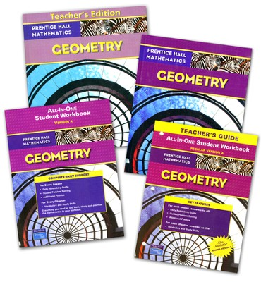 Prentice Hall High School Math Geometry Homeschool  Bundle  -