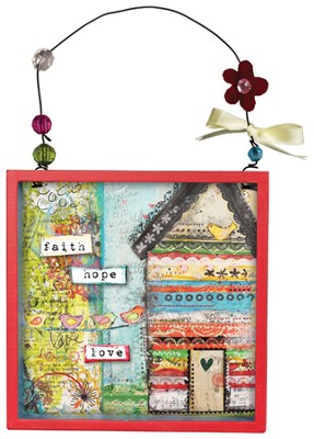 Faith, Hope, Love Shadow Box, Small  -     By: Christy Tomlinson