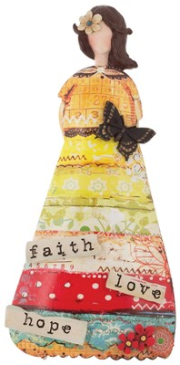 Faith Hope Love Figurine  -     By: Christy Tomlinson