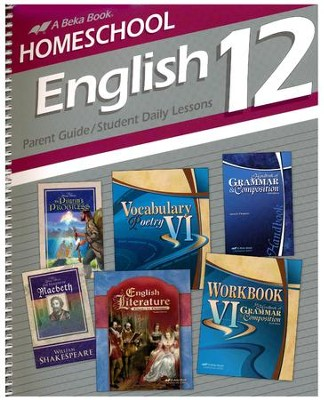 Homeschool English 12 Parent Guide/Student Daily Lessons  -