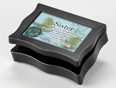 A Sister is a Treasure Music Box  -