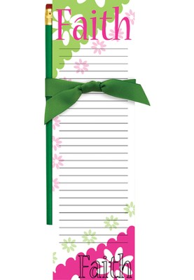 Faith Magnetic Note Pad and Pencil  -