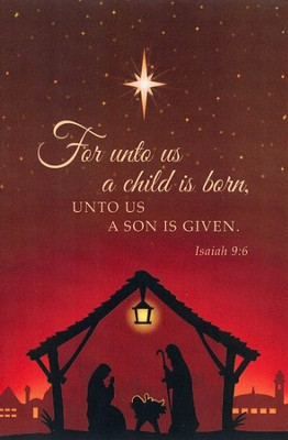 For unto Us a Child Is Born (Nativity),     -