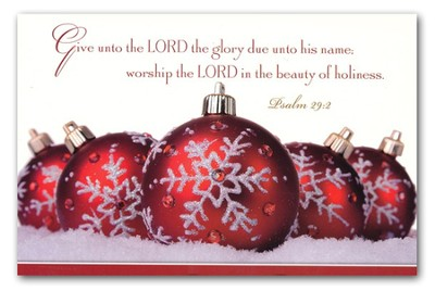 Give unto the Lord the Glory,  20 Boxed Christmas Cards  -
