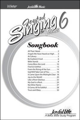Joyful Singing for Teens #6 Songs   -