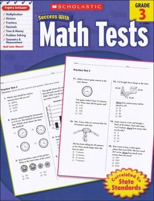 Scholastic Success with Math Tests, Grade 3  -