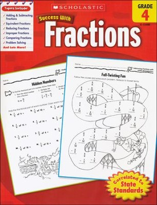 Scholastic Success with Fractions, Grade 4  -