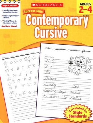 Scholastic Success with Contemporary Cursive, Grades 2-4  -