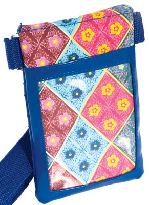 Cell Phone Case Organizer with Belt, Blues and Red  -