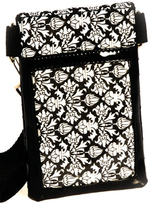 Cell Phone Case Organizer with Belt, Black and White  -