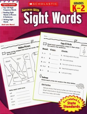 Scholastic Success with Sight Words  -     By: Karen Baicker
