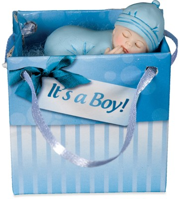 Precious Blessing Newborn Baby Gift To Go, Boy, Blue  -