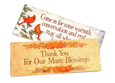Christmas and Harvest Magnets, Set of 2  -
