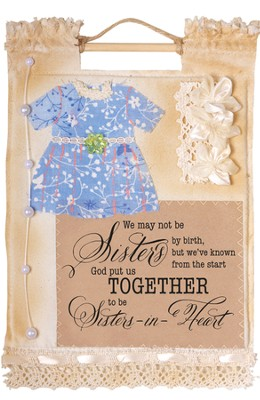 Sisters in Heart Wallhanging  -