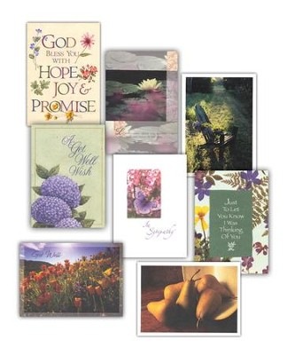 Encouragement Cards Set - Set of 16; 8 designs, 2 each   -