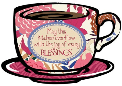 May This Kitchen Overflow Plaque  -