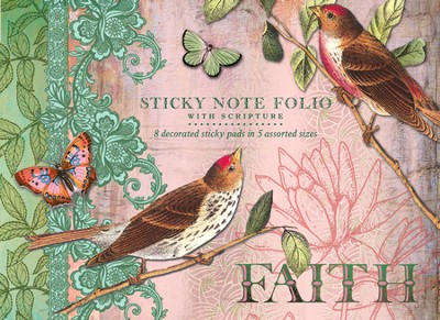 Flights Of Faith, Foiluxe Sticky Note Folio   -     By: Jennifer Parker