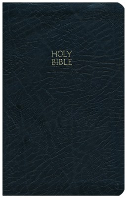 KJV Ultraslim BIble, bonded leather black   -